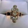 2.35ctw Old Mine and Cushion Cut Victorian Cluster Ring 61
