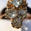 2.35ctw Old Mine and Cushion Cut Victorian Cluster Ring 74