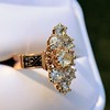2.35ctw Old Mine and Cushion Cut Victorian Cluster Ring 39