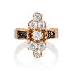 2.35ctw Old Mine and Cushion Cut Victorian Cluster Ring 0