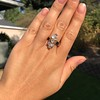 2.35ctw Old Mine and Cushion Cut Victorian Cluster Ring 6