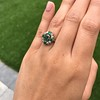 Victorian Emerald and Diamond Cluster Ring 14