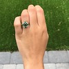 Victorian Emerald and Diamond Cluster Ring 16