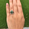 Victorian Emerald and Diamond Cluster Ring 11