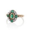 Victorian Emerald and Diamond Cluster Ring 1
