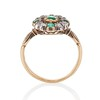 Victorian Emerald and Diamond Cluster Ring 4
