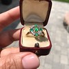 Victorian Emerald and Diamond Cluster Ring 19