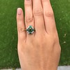 Victorian Emerald and Diamond Cluster Ring 12