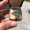 Victorian Emerald and Diamond Cluster Ring 20