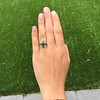 Victorian Emerald and Diamond Cluster Ring 10
