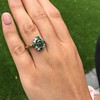 Victorian Emerald and Diamond Cluster Ring 15