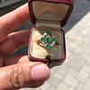 Victorian Emerald and Diamond Cluster Ring 18