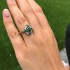 Victorian Emerald and Diamond Cluster Ring 13