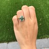 Victorian Emerald and Diamond Cluster Ring 9
