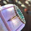 1.40ctw Victorian Emerald and Diamond Navette Ring 6