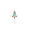 1.40ctw Victorian Emerald and Diamond Navette Ring 0