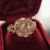 2.35ctw Vintage Old Mine and Antique Cushion Cluster Ring 0