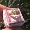 2.35ctw Vintage Old Mine and Antique Cushion Cluster Ring 14