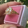 2.35ctw Vintage Old Mine and Antique Cushion Cluster Ring 5