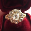2.35ctw Vintage Old Mine and Antique Cushion Cluster Ring 24