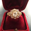 2.35ctw Vintage Old Mine and Antique Cushion Cluster Ring 19