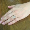 2.35ctw Vintage Old Mine and Antique Cushion Cluster Ring 13