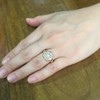 2.35ctw Vintage Old Mine and Antique Cushion Cluster Ring 9