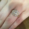2.35ctw Vintage Old Mine and Antique Cushion Cluster Ring 6