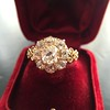 2.35ctw Vintage Old Mine and Antique Cushion Cluster Ring 23