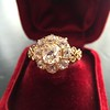 2.35ctw Vintage Old Mine and Antique Cushion Cluster Ring 22