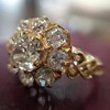 2.35ctw Vintage Old Mine and Antique Cushion Cluster Ring 10