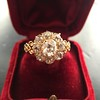 2.35ctw Vintage Old Mine and Antique Cushion Cluster Ring 18