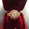 2.35ctw Vintage Old Mine and Antique Cushion Cluster Ring 17
