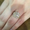 2.35ctw Vintage Old Mine and Antique Cushion Cluster Ring 8