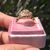 2.35ctw Vintage Old Mine and Antique Cushion Cluster Ring 3