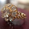 2.35ctw Vintage Old Mine and Antique Cushion Cluster Ring 1