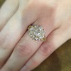 2.35ctw Vintage Old Mine and Antique Cushion Cluster Ring 4