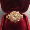 2.35ctw Vintage Old Mine and Antique Cushion Cluster Ring 16