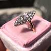 Victorian Rose Cut Diamond Navette Ring 8