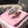 Victorian Rose Cut Diamond Navette Ring 16