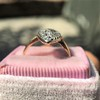Victorian Rose Cut Diamond Navette Ring 17
