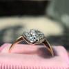 Victorian Rose Cut Diamond Navette Ring 6