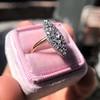 Victorian Rose Cut Diamond Navette Ring 14