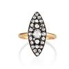 Victorian Rose Cut Diamond Navette Ring 0