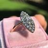 Victorian Rose Cut Diamond Navette Ring 33