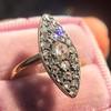 Victorian Rose Cut Diamond Navette Ring 20
