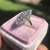Victorian Rose Cut Diamond Navette Ring 36