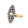 Victorian Rose Cut Diamond Navette Ring 1