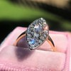 Victorian Rose Cut Diamond Navette Ring 35
