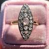 Victorian Rose Cut Diamond Navette Ring 22